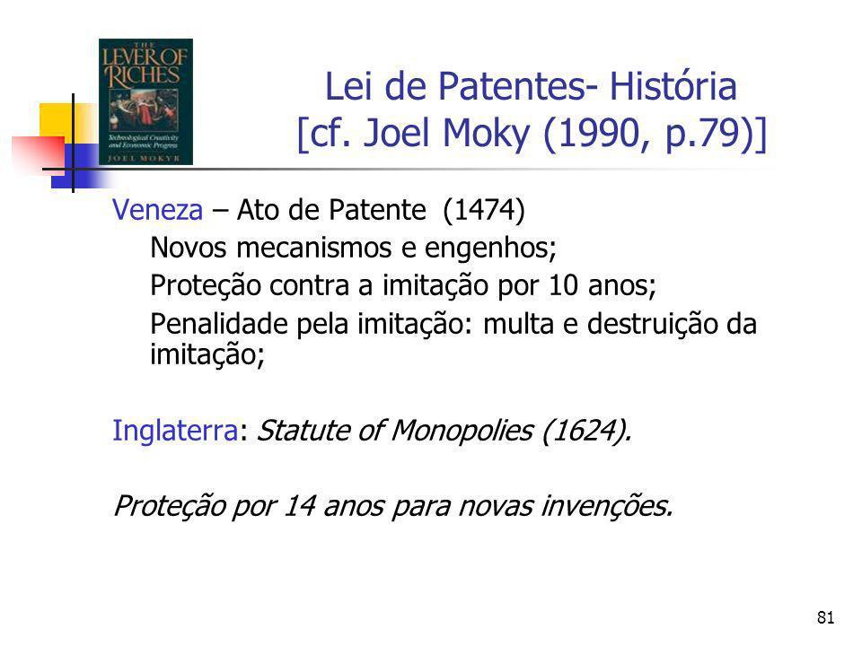 Lei de Patentes- História [cf. Joel Moky (1990, p.79)]
